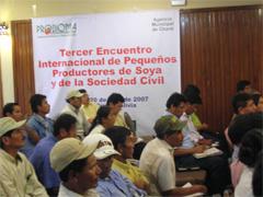 Bolivia: III Encuentro internacional de pequeños productores de soya y de la sociedad civil